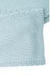 Комплект деткий (для девочки) шапка, шарф и перчатки однотонный, с декором 65PG5109 junior голубой