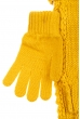Комплект деткий (для девочки) шапка, шарф и перчатки однотонный, с декором 65PG5109 junior горчичный