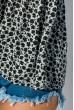 Блуза женская стильная 266F011-11 серо-черный