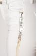 Джинсы женские с пайетками 134P903 белый
