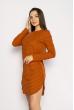Платье-туника 631F002 кирпичный