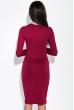 Платье женское с шнуровкой на груди 84PD1032 вишневый