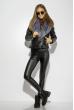 Куртка женская с меховым воротником 170P9032 черный
