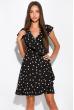Платье в горох на запах 151P16 черный