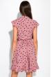 Платье в горох на запах 151P16 бледно-розовый