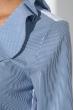 Блузка женская с жабо и шнуровкой на груди 64PD202 бело-синий