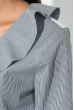Блузка женская с жабо и шнуровкой на груди 64PD202 бело-серый