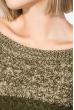 Джемпер женский с декоративными змейками 241V001 хаки