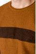 Джемпер 520F018 светло-коричневый / чернильный