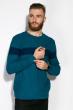 Джемпер 520F018 бирюзово / темно-синий