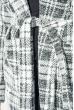 Кардиган женский теплый 64PD304 бело-черная клетка