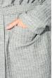 Кардиган женский теплый 64PD304 серый меланж