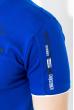 Футболка мужская с вышивкой на груди  81P2017 электрик