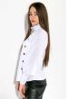 Блузка женская однотонная,с пуговицами  87PV217 белый