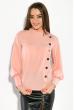 Блузка женская однотонная,с пуговицами  87PV217 розовый