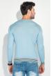 Джемпер мужской узор зигзаг 50PD442 голубой