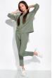 Спортивный костюм с укороченными брюками 151P002 оливковый
