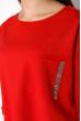 Спортивный костюм с укороченными брюками 151P002 красный