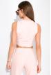 Комплект (кардиган, топ и штаны) женский 120PSS008 розовый
