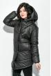 Куртка женская удлиненная, с глубоким капюшоном 69P0811 черный