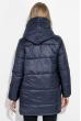Куртка женская удлиненная, с глубоким капюшоном 69P0811 темно-синий