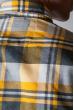 Рубашка яркая мужская 371F010 серо-желтый