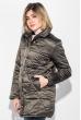 Куртка женская на кнопках и молнии, высокий ворот 68PD503 темный хаки