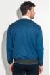 Кардиган мужской приталенный, с потайной застежкой 50PD640 сине-черный