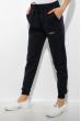 Брюки спортивные женские с манжетами 85F10152 темно-синий