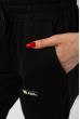Брюки спортивные женские с манжетами 85F10152 черный