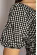 Блуза женская в мелкую клетку 635F006 черно-белый