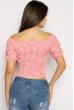 Блуза женская в мелкую клетку 635F006 розово-белый