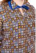 Блуза женская с геометрическим принтом 118P127-5 терракотовый-индиго