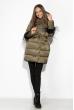 Женская куртка с перьями 120PSKL2269 хаки