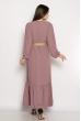 Платье в пол с длинными рукавами 640F001-2 сиреневый