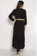 Платье в пол с длинными рукавами 640F001-2 черный