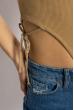 Боди женское с завязками 629F1232 бежевый