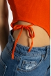 Боди женское с завязками 629F1232 терракотовый