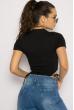 Боди женское с завязками 629F1232 черный