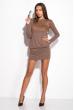 Платье женское 120P076 бежево-карамельный