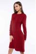 Платье вязаное 120PRZGR775-1 бордо