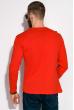 Лонгслив мужской 147P006 с надписями красный