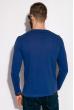 Лонгслив мужской 147P006 с надписями голубой