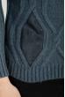 Свитер мужской с вставками кожи 48P3248 джинс