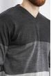 Джемпер трехцветный 85F50 грифельно-серый