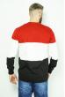 Джемпер трехцветный 85F50 красно-черный