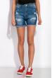 Женские джинсовые шорты 120PEL046-2 светло-синий