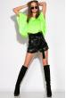 Модные шорты из эко-кожи 120PAM7125 черный