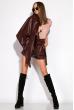 Модные шорты из эко-кожи 120PAM7125 бордовый