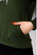 Женский худи 151P139 зеленый
